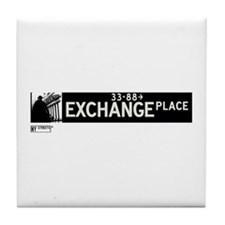 Exchange Place in NY Tile Coaster