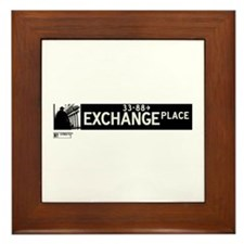Exchange Place in NY Framed Tile