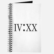 4:20 Roman Numerals Journal