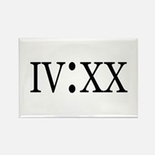 4:20 Roman Numerals Rectangle Magnet