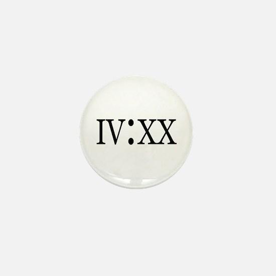 4:20 Roman Numerals Mini Button (10 pack)