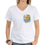 Just Married Car Women's V-Neck T-Shirt