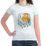 Just Married Car Jr. Ringer T-Shirt
