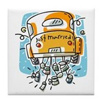 Just Married Car Tile Coaster