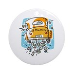 Just Married Car Ornament (Round)