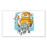 Just Married Car Rectangle Sticker