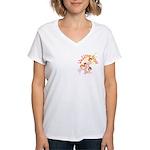 Wedding Bouquet Women's V-Neck T-Shirt