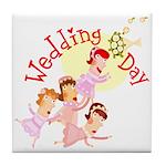 Wedding Bouquet Tile Coaster