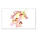 Wedding Bouquet Rectangle Sticker 50 pk)