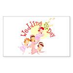 Wedding Bouquet Rectangle Sticker 10 pk)