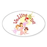 Wedding Bouquet Oval Sticker (50 pk)