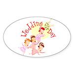 Wedding Bouquet Oval Sticker (10 pk)