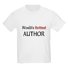 World's Hottest Author Kids Light T-Shirt