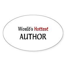 World's Hottest Author Oval Sticker