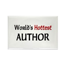 World's Hottest Author Rectangle Magnet