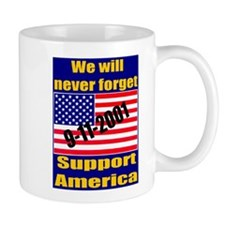 9-11-2001 We Will Never Forge Mug