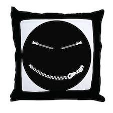 Bondage Smiley Throw Pillow