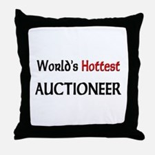 World's Hottest Auctioneer Throw Pillow