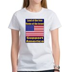 Land of the free home of the Women's T-Shirt
