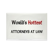 World's Hottest Attorneys At Law Rectangle Magnet