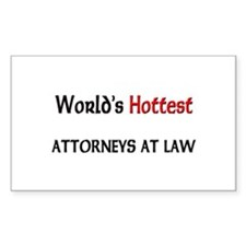 World's Hottest Attorneys At Law Decal
