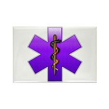 Star of Life(Violet) Rectangle Magnet