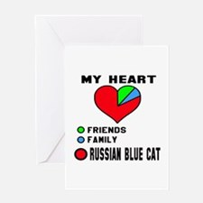My heart friends, family Russian Blu Greeting Card