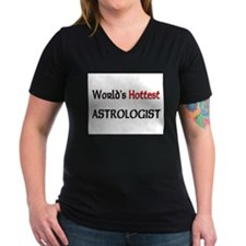 World's Hottest Astrologist Women's V-Neck Dark T-