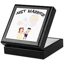 Just Married Wedding Toast Keepsake Box