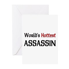 World's Hottest Assassin Greeting Cards (Pk of 10)