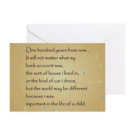 ONE HUNDRED YEARS Greeting Cards (Pk of 20)