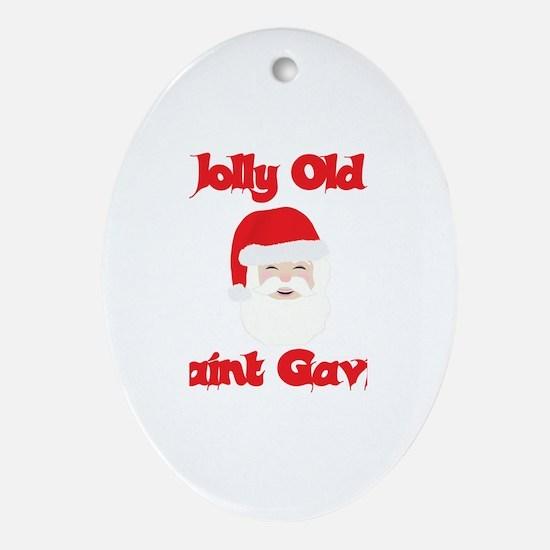 Jolly Old Saint Gavin Oval Ornament