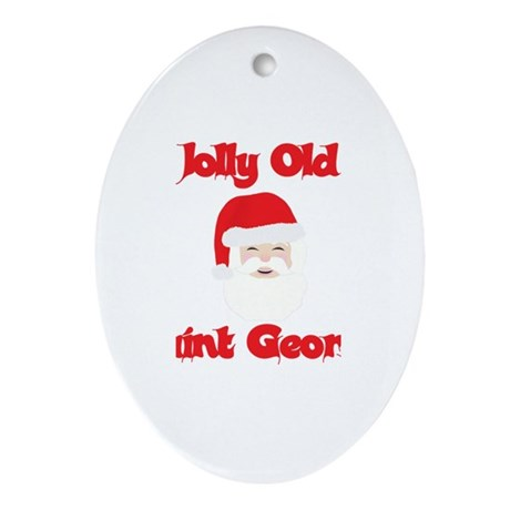 Jolly Old Saint George Oval Ornament