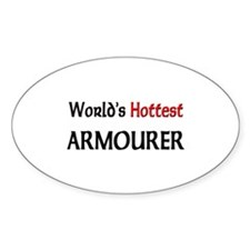 World's Hottest Armourer Oval Decal