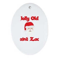 Jolly Old Saint Zack Oval Ornament