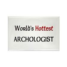 World's Hottest Archologist Rectangle Magnet