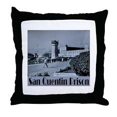 San Quentin Throw Pillow