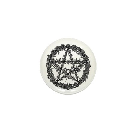 Ivy Pentacle Mini Button