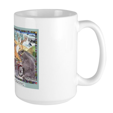 Deer & Bike Crossing Large Mug