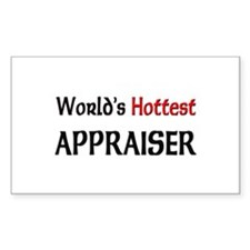 World's Hottest Appraiser Rectangle Decal