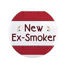 """New Ex-Smoker 3.5"""" Button"""