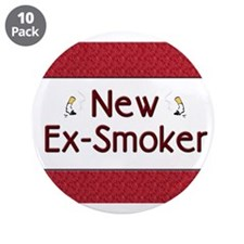 "New Ex-Smoker 3.5"" Button (10 pack)"