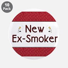 "New Ex-Smoker 3.5"" Button (10 pack)"