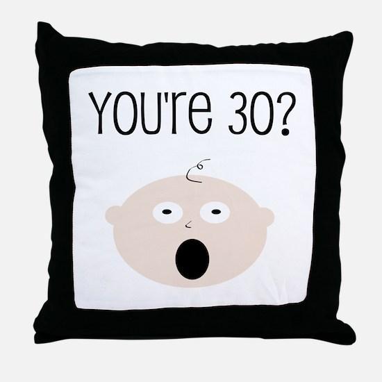 30th Birthday Surprise Throw Pillow