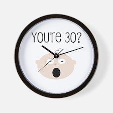 30th Birthday Surprise Wall Clock
