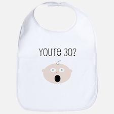 30th Birthday Surprise Bib