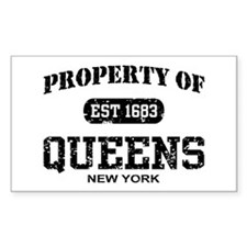 Property of Queens Rectangle Decal