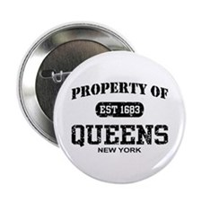 """Property of Queens 2.25"""" Button"""