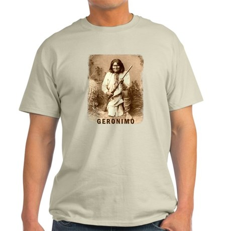 Geronimo Native American Apache Light T-Shirt