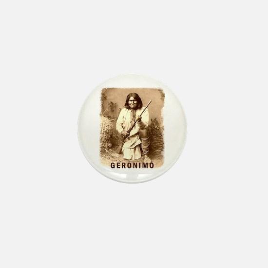 Geronimo Native American Apache Mini Button